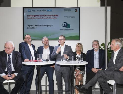 """Diskussionsrunde der DGG zum Thema """"Digitale Diabetesversorgung – Quo vadis?"""" auf der Medica"""