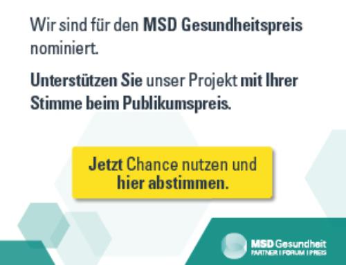 TeLIPro für den MSD Gesundheitspreis nominiert / Voting für Publikumspreis gestartet